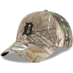 044a7af2078ee Men s Detroit Tigers New Era Camo Realtree 49FORTY Fitted Hat