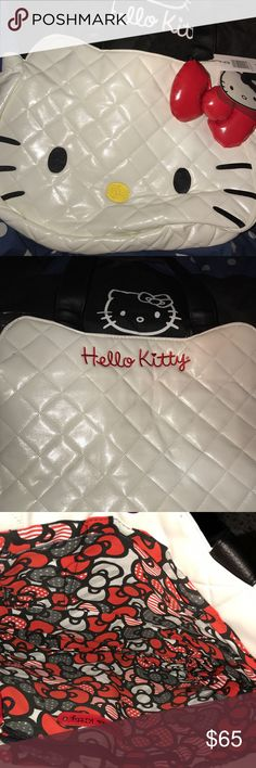 Hello Kitty purse! Very cute! NWT!! RARE This is a super adorable Hello Kitty purse 👛!! Never used, has tags and comes with a Hello Kitty dust bag! Large puffy purse and very roomy! A must for Hello Kitty lovers! PRICE IS FIRM. Hello Kitty Bags Shoulder Bags