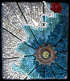"""Rachel Sager """"The Lost Colony"""" mosaic"""