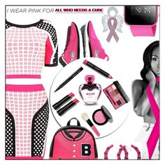 """I WEAR PINK FOR ALL WHO NEED A CURE (That only GOD can cure)"" by melindairenes ❤ liked on Polyvore featuring Betsey Johnson, Bobbi Brown Cosmetics, Moschino and IWearPinkFor"
