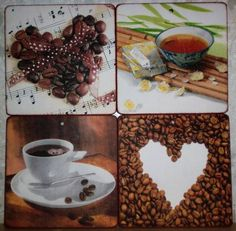 """Кухня ручной работы. Ярмарка Мастеров - ручная работа. Купить """"Кофе и чай"""" Разделочная дочка панно. Handmade. Комбинированный"""