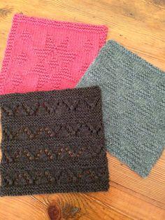 Napa Pattern Knit Squares // Knitionary // Inspiration