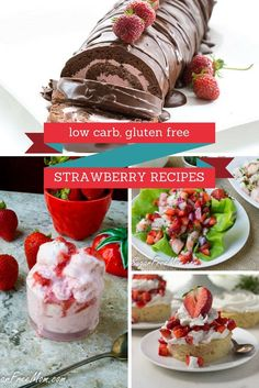 23 Low Carb & Gluten Free strawberry recipes  Check my favorite Keto Cookbook & Be a Better  Cook Today! http://tastyketo.com/keto-cookbook/