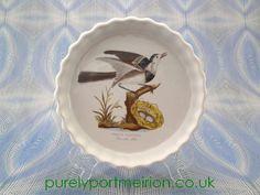 Portmeirion Birds Of Britain Vintage 7.5 Inch Flan Dish