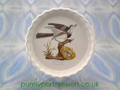 Portmeirion Birds Of Britain Vintage 7.5 Inch Flan Dish