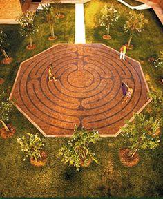 """Santa Rosa Labyrinth"" at St. Luke's Methodist Church Labyrinth in Shreveport, LA"