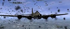 B-17 SQUADRON UNDER FIRE OVER GERMAN AIRSPACE