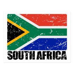 Shop South Africa Vintage Flag Postcard created by allworldtees. South African Flag, African Flags, Vintage Flag, Cultural Experience, Rock Crafts, Africa Travel, Chicago Cubs Logo, Postcard Size, Trip Planning
