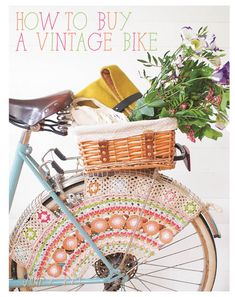 I love the #crochet skirt guard in the @molliemakes post about How to Buy a Vintage Bike
