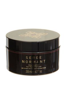 """""""Not only do I color and heat style my hair, but I recently got a perm. Needless to say, it needs all the love I can give it. This hair mask brings it back to life and keeps it strong, healthy, and shiny."""" - Taylor Barringer, ELLE.com Beauty Editor  Serge Normant Meta Morphosis Hair Repair Treatment, $60; spacenk.com COurtesy of Serge Normant  - ELLE.com"""