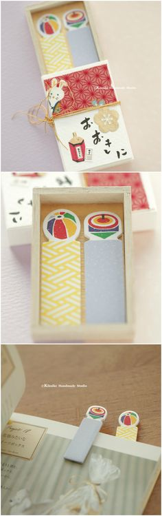 Sticky notes,bookmark Matchbox card,Japanese Miniatures Matchbox,Gift box,cheer up box,Valentine's Gift,Gift for her/him,Girlfriend gift, birthday gift, holiday gift and paper art ideas #japanstyle #stationery #付箋 #文房具  #japanesehandamde #unique #messagecard #handmade #custom #GreetingCards #paper #Longdistancegift #thoughtfulgift #valentineday  #kikuikestudio  #matchboxart