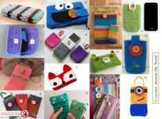 Crochet Phone Cover Free Crochet Patterns for Smart Phone Covers by Crochet Around the World Crochet Phone Cover, Crochet Case, Crochet Purses, Love Crochet, Crochet Gifts, Learn To Crochet, Single Crochet, Knit Crochet, Crochet Things