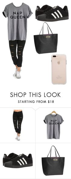 """Untitled #155"" by arielxrebecca on Polyvore featuring adidas"