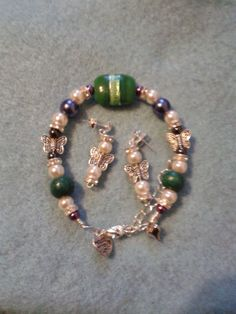 Lovingly Designed Bracelets by Susie with Fibromyalgia (£14 for set, £5.50 Earrings and £8.50 Bracelet)