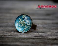Ketten lang - echte Blüten Ring Nr. 19 - ein Designerstück von japples bei DaWanda