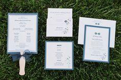 Subtle fish wedding invitations