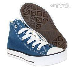 Converse All Star Hi - baskets enfant du 27 au 32 - bleu marine et blanc #convers #navy #montante #taylor #chuck #chucktaylor #enfant