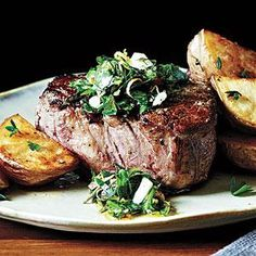Peppercorn-Crusted Beef Tenderloin with Gremolata is big on flavor. Fresh herbs and lemon make a bright, tasty topper for the steaks.