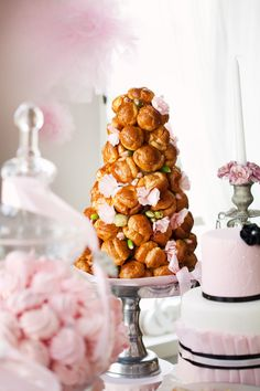 Chic and Pink Parisian Dessert Table