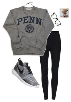 """Lazy day"" by giannavozzella ❤ liked on Polyvore featuring NIKE"