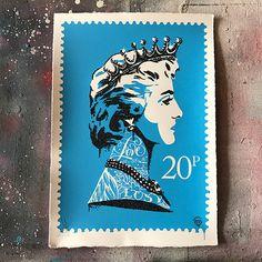 Princess Diana Stamp (blue)