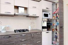 mobila bucatarie la comanda Modern Kitchen Cabinets, Decor, Kitchen Design Small, Kitchen Design, Home Decor, House Interior, Kitchen Cabinets, Modern Kitchen Design, Interior Decorating