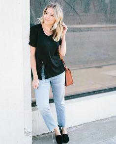 Check out #FIDM Grad and Style Expert @lindsayalbanese #weardrobe concept collectionin partnership with @monrowattire which was just launched today! Her collection is available until 10/30. See it by tapping the link in our bio. (Pictured is her high slit t-shirt)