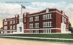 old pictures of watertown, ma | High School, Watertown, Wisconsin