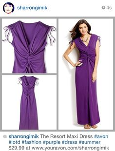 The Resort Maxi Dress at www.youravon.com/sharrongimik $29.99