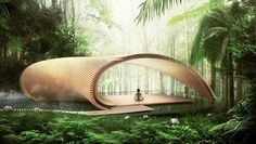 kengo kuma architects has envisioned a series of villas located in the bukit peninsula, the southernmost point of bali.
