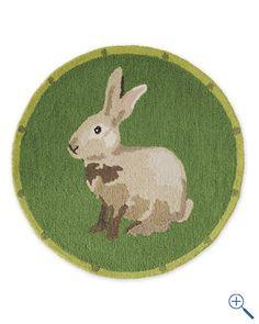 Animal Portrait Hooked Wool Rug - Bunny or Hen Yarn Twist, Cute Bunny, Bunny Bunny, Bunnies, Art Mat, Hand Hooked Rugs, Fabric Rug, Painting Wallpaper, Rug Sale