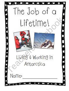 The Job of a Lifetime - Living and Working in Antarctica from Cute in the Classroom on TeachersNotebook.com (9 pages)  - Cute, in-depth activity packet all about living and working in Antarctica as a researcher. Teach your students about what life is really like for the occupants of this frozen continent!