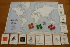 """""""Sail the Seas"""" (learn the names of oceans and seas) ages Social Studies Games, 3rd Grade Social Studies, Hands On Activities, Fun Activities, Ocean Names, Tapestry Of Grace, Middle School History, Lewis And Clark, Some Cards"""