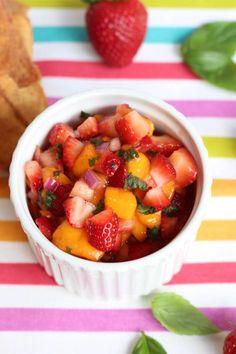 Strawberry Mango Salsa - strawberries, mango, lime, red onion, mint ...