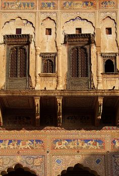An haveli in mandawa - ii, a photo from rajasthan, west trek Vintage India, Indian Architecture, Architecture Details, Blue Sword, Iron Work, Arabian Nights, India Travel, Incredible India, In This World