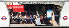 Cafe de Flore, Paris used by Vodafone for billboard ad campaign