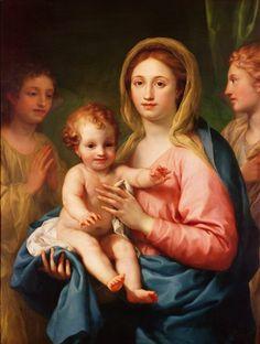 Anton Raphael Mengs (1728-1779)  — Madonna and Child, c.1770-1773  : Kunsthistorisches Museum,  Viena.  Austria  (580×768)