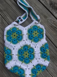 African Flower Tote by Katslittlekreations on Etsy, $25.00