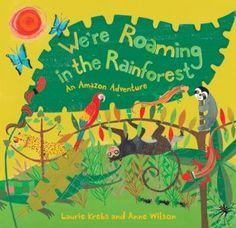 Book~ Poetry, Non-fiction, The rhyming text has an adjective for each creature in the Rainforest.