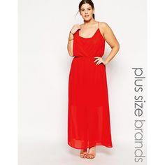 Junarose Plunge Neck Cami Maxi Dress ($32) ❤ liked on Polyvore featuring plus size fashion, plus size clothing, plus size dresses, plus size, red, white cami, tall maxi dresses, white dress, red maxi dress and plus size maxi dresses