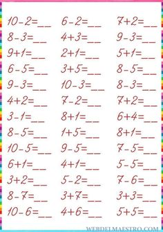 Math Practice Worksheets, English Worksheets For Kindergarten, Math Workbook, Printable Math Worksheets, Preschool Writing, Math Literacy, Preschool Worksheets, Math Subtraction, Picture Writing Prompts