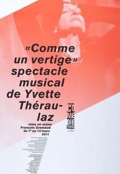 """""""Comme un vertige"""" - spectacle musical de Yvette Théraulaz - mise en scène François Grtemaud - La Comédie Genève-Plakat"""