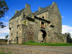 Midhope Castle, Edinburgh, Scotland. The filming site of Lallybrock, in the Outlander series.