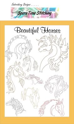 Digital Download Beautiful Horses by SpareTimeStitching on Etsy