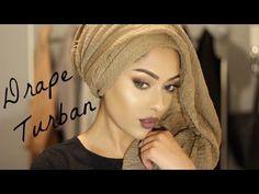 Drape Turban | Easy & Pinless! | MishaArtistry - YouTube