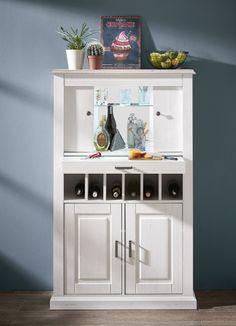 """Nadčasově stylový obývací a jídelní nábytek v provensálském stylu v jemné barevné kombinaci světlé pinie a dekoru """"taupe"""" (tmavošedá). Velmi rozsáhlý program, samostatně zakoupitelné elementy, možnost vytvoření vlastních sestav. V nabídce i jídelní rozkládací stoly, jídelní lavice a židle. Nábytek je dodáván již včetně LED osvětlení. Lockers, Locker Storage, Bookcase, Shelves, Cabinet, Furniture, Home Decor, Rustic Dresser, Narrow Chest Of Drawers"""