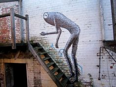 Born in North Wales and now residing in Sheffield, UK, cartoonist and illustrator Phlegm is well known for his self-published comics and amazing graffiti/street art. Greek Medicine, Sheffield Art, Street Art Graffiti, Public Art, Urban Art, Continents, Cool Art, World, Illustration