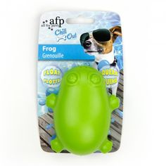 All For Paws Floating Frog - Floating dog toy £3.49