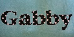 Lots of Dots Personalized Applique Towel *Great for Beach, Pool or Bath* Custom Girl Polka Dot Name Towel