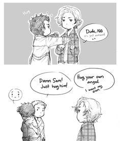 (Supernatural) Damn Sam! Just hug him! <3 So cute!